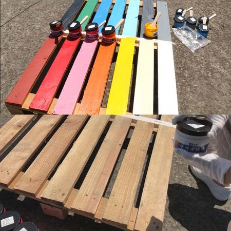 Colorful waterborne metal lacquer products